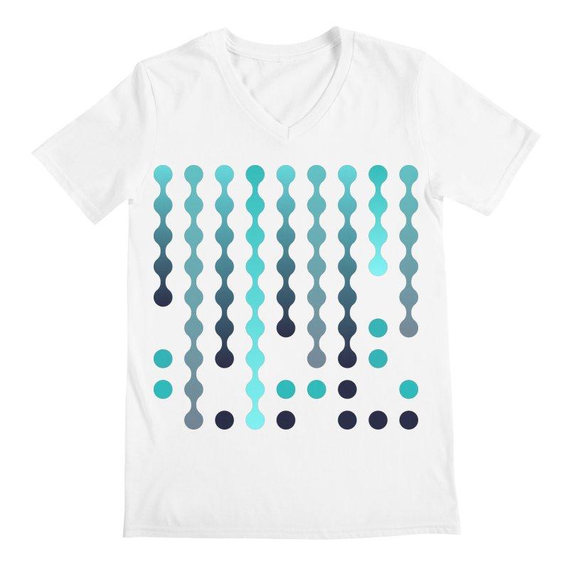 Droplets  Men's Regular V-Neck by zeroing 's Artist Shop