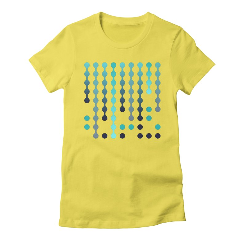 Droplets  Women's Fitted T-Shirt by zeroing 's Artist Shop