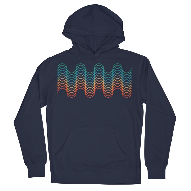 Gradient Wave Women's French Terry Pullover Hoody by zeroing 's Artist Shop