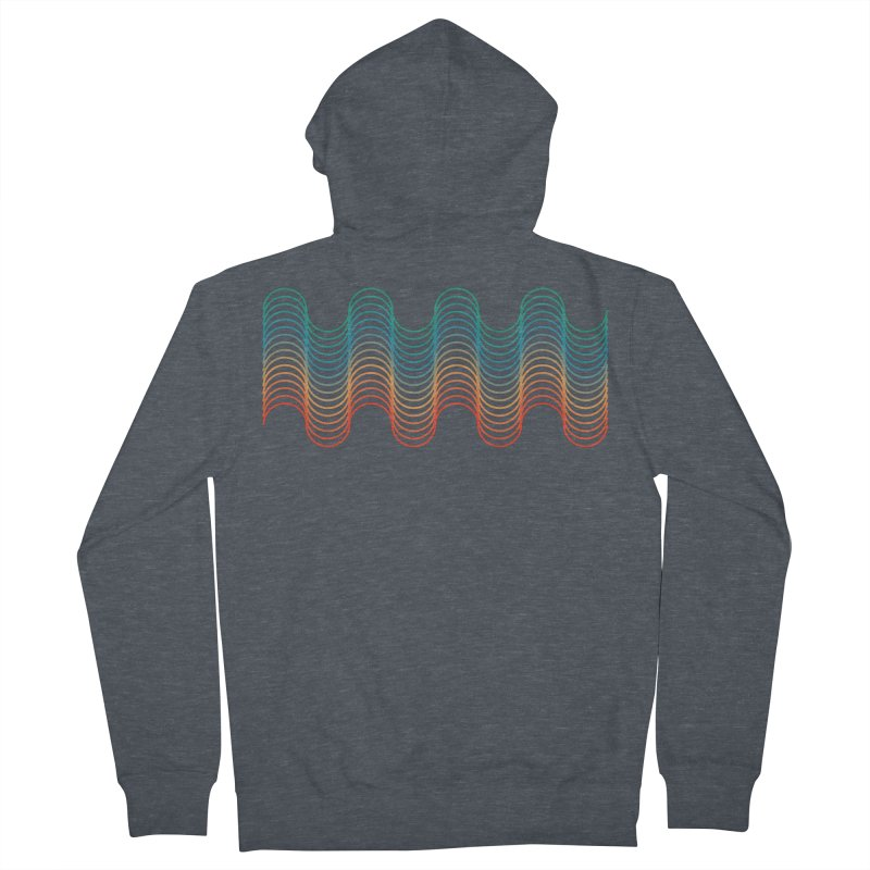 Gradient Wave Men's French Terry Zip-Up Hoody by zeroing 's Artist Shop