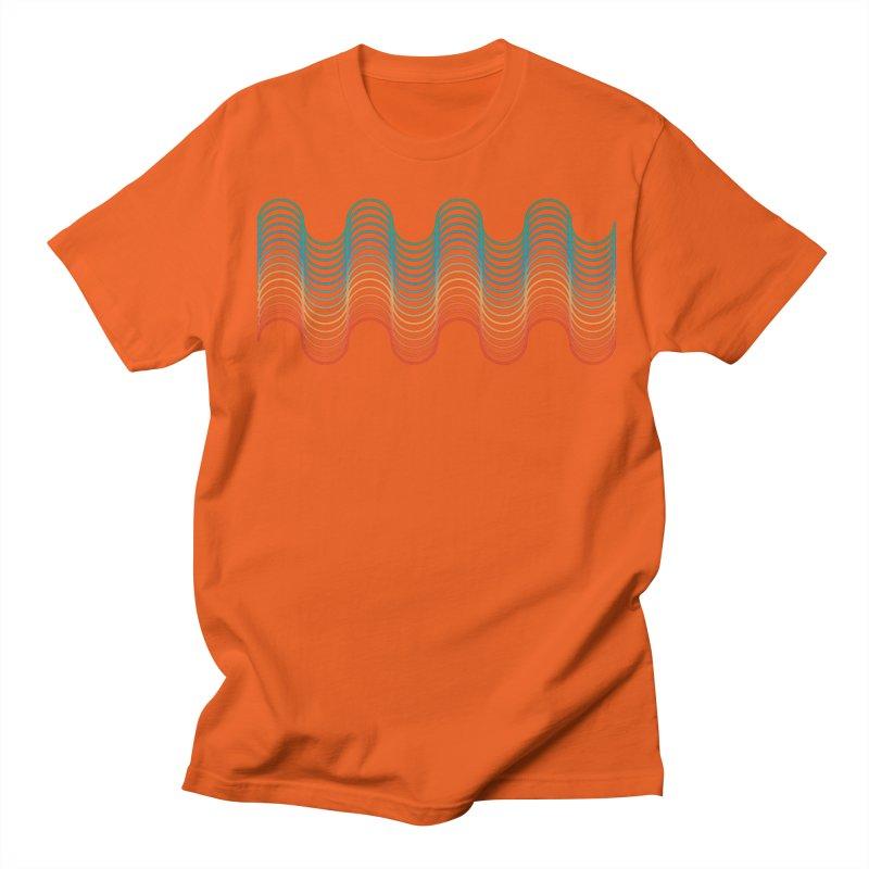 Gradient Wave Men's Regular T-Shirt by zeroing 's Artist Shop
