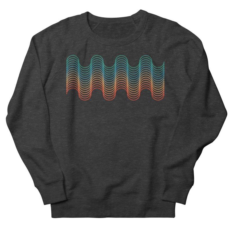 Gradient Wave Men's French Terry Sweatshirt by zeroing 's Artist Shop