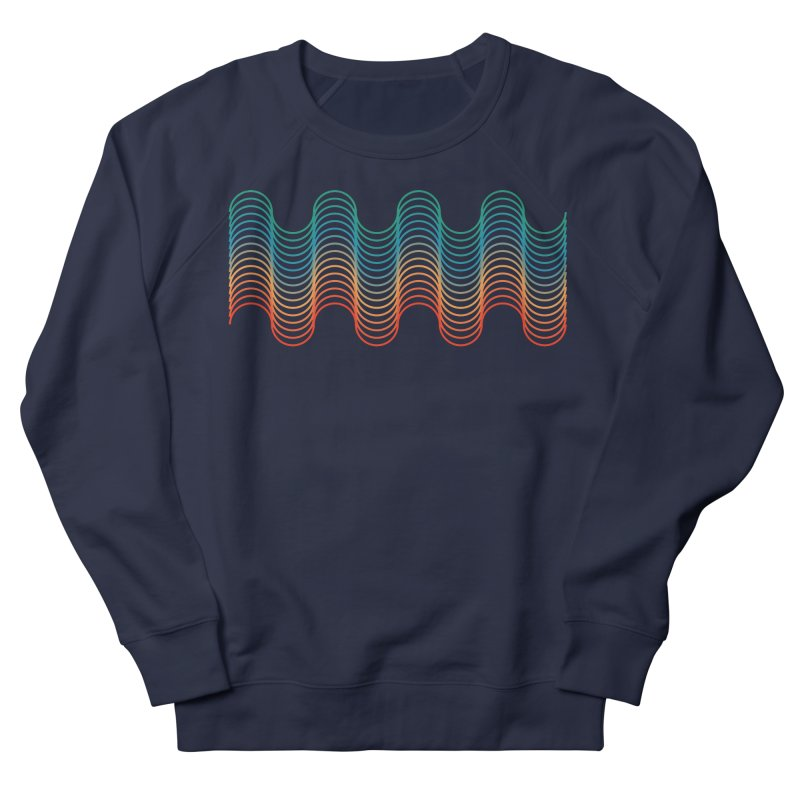 Gradient Wave Men's French Terry Sweatshirt by zeroing 's Artist Shop