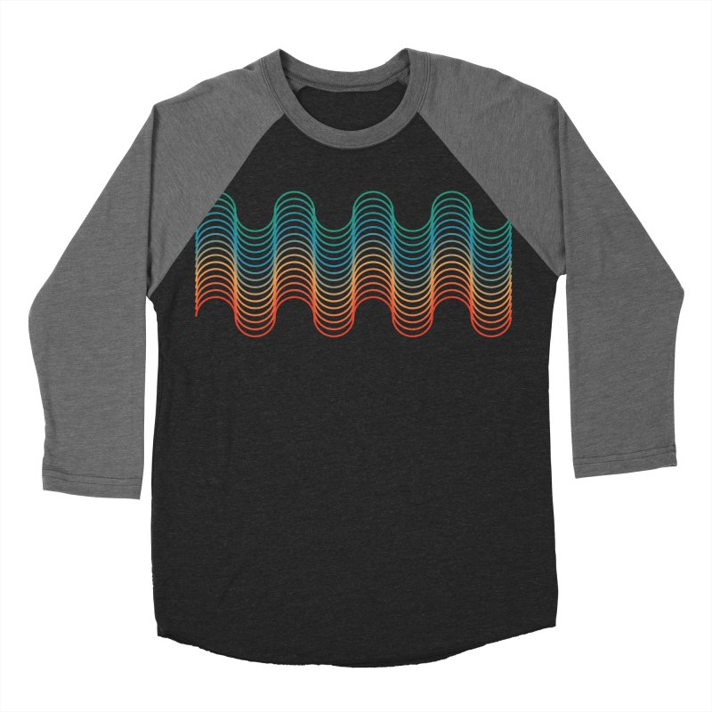 Gradient Wave Women's Baseball Triblend Longsleeve T-Shirt by zeroing 's Artist Shop
