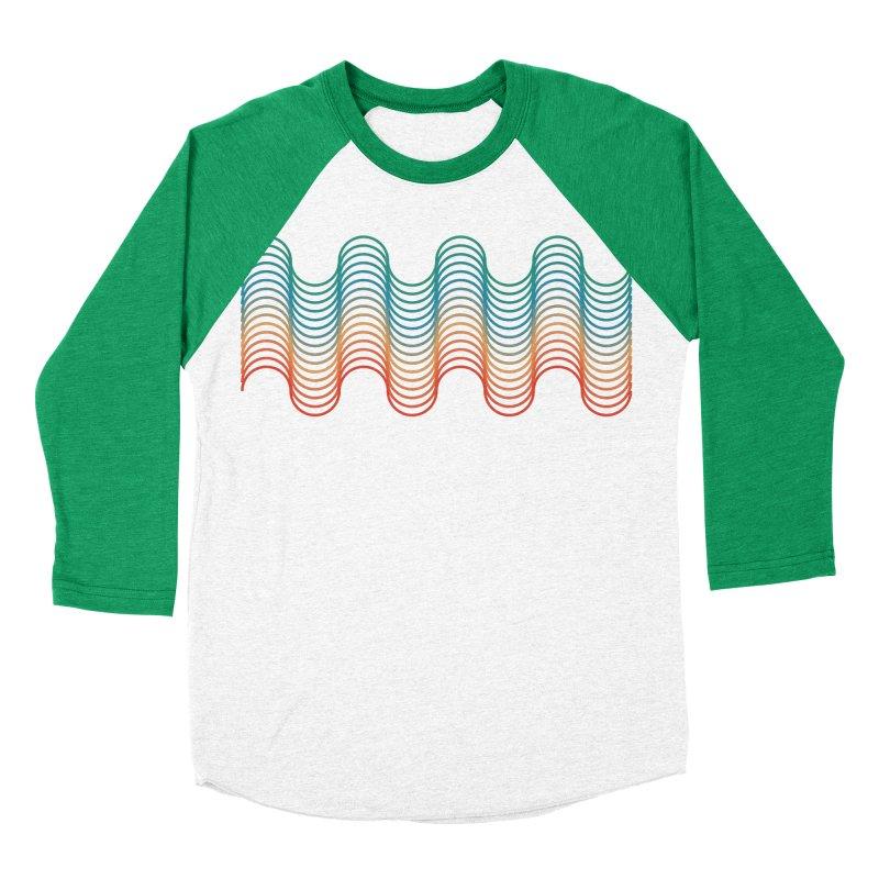 Gradient Wave Men's Baseball Triblend Longsleeve T-Shirt by zeroing 's Artist Shop