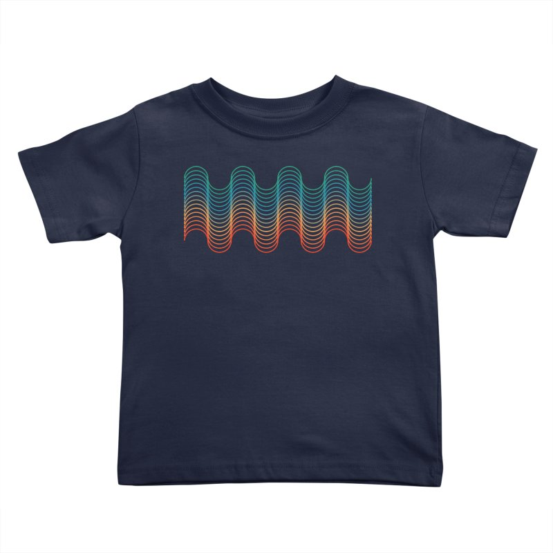 Gradient Wave Kids Toddler T-Shirt by zeroing 's Artist Shop