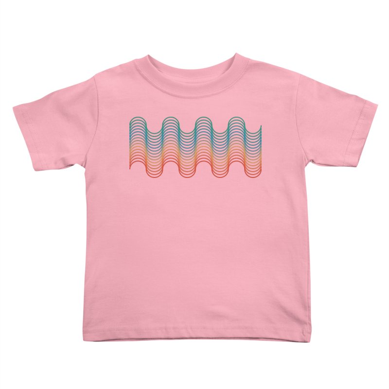 Gradient Wave Kids Toddler T-Shirt by zeroing 's Artist Shop