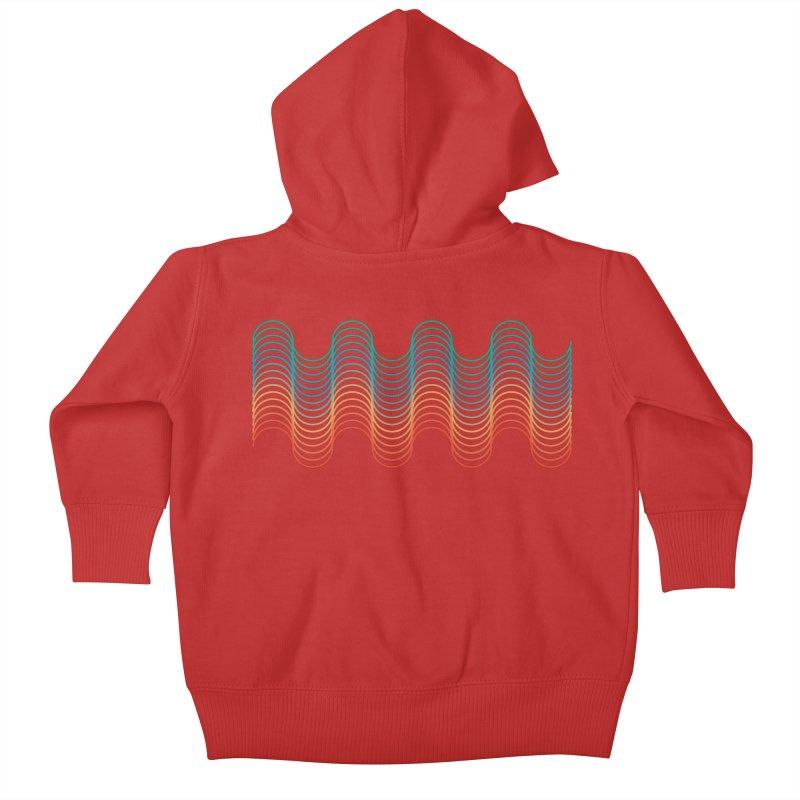 Gradient Wave Kids Baby Zip-Up Hoody by zeroing 's Artist Shop
