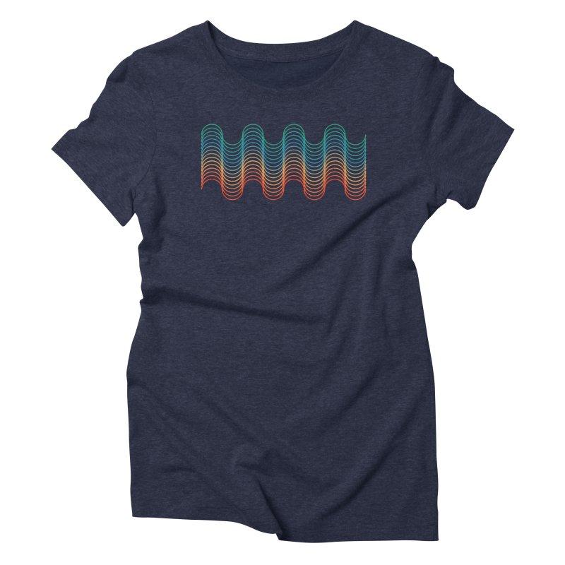 Gradient Wave Women's Triblend T-Shirt by zeroing 's Artist Shop