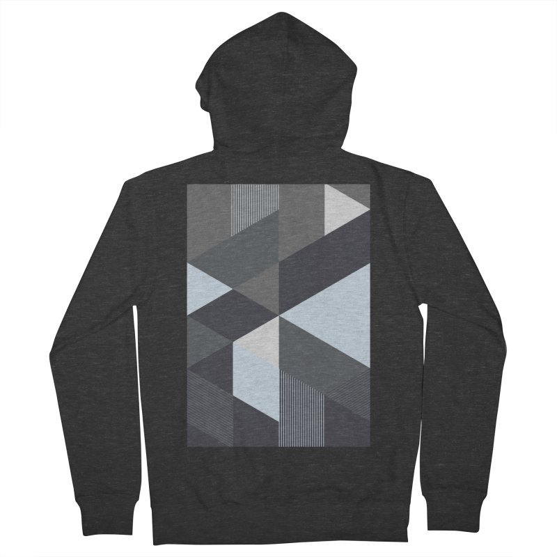Block Colors Men's French Terry Zip-Up Hoody by zeroing 's Artist Shop