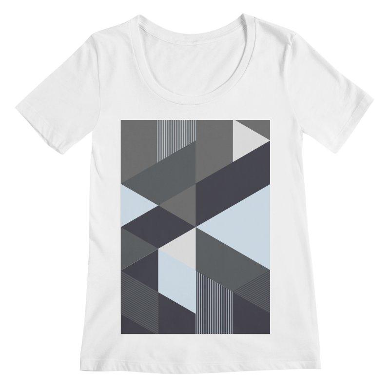 Block Colors Women's Regular Scoop Neck by zeroing 's Artist Shop