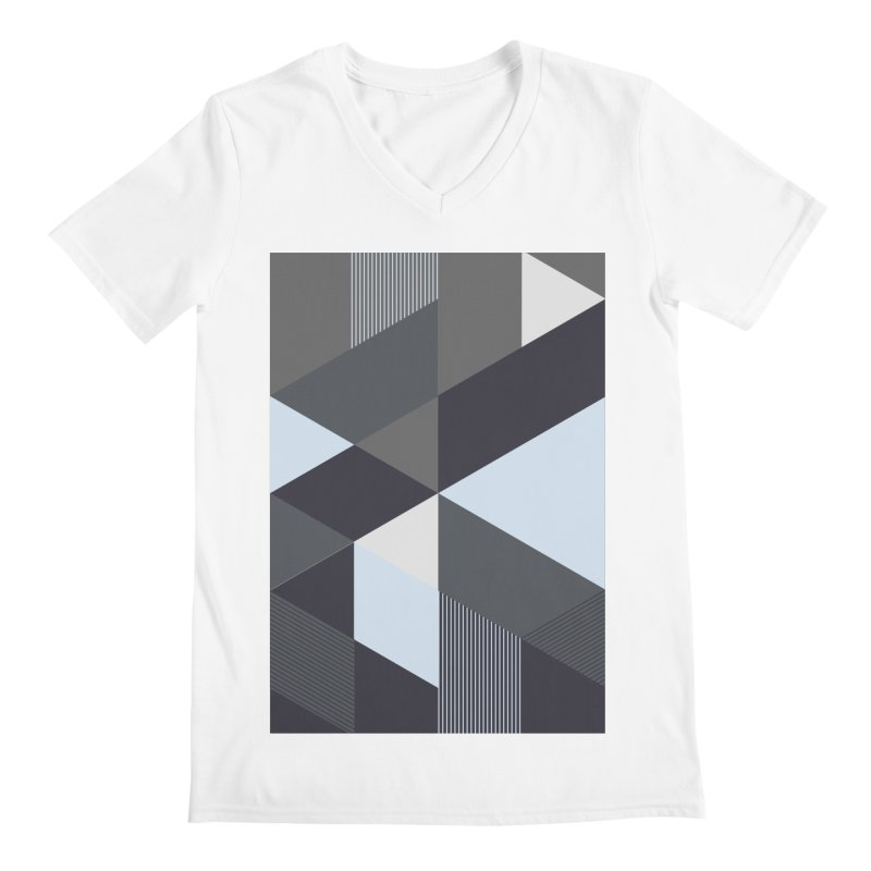 Block Colors Men's Regular V-Neck by zeroing 's Artist Shop
