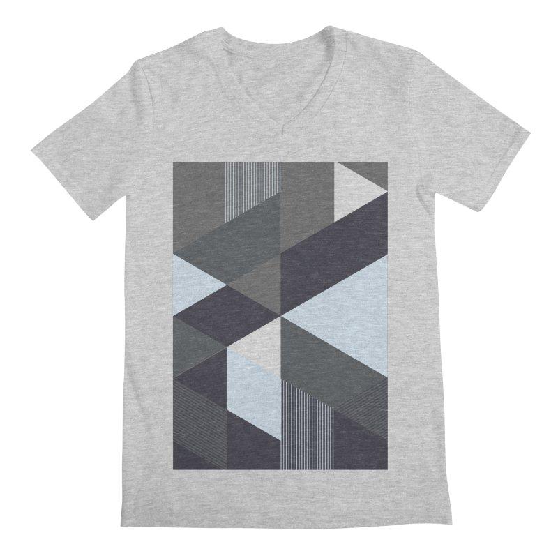 Block Colors Men's Regular V-Neck by zeroing 's Artist Shop