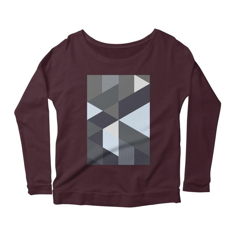 Block Colors Women's Scoop Neck Longsleeve T-Shirt by zeroing 's Artist Shop