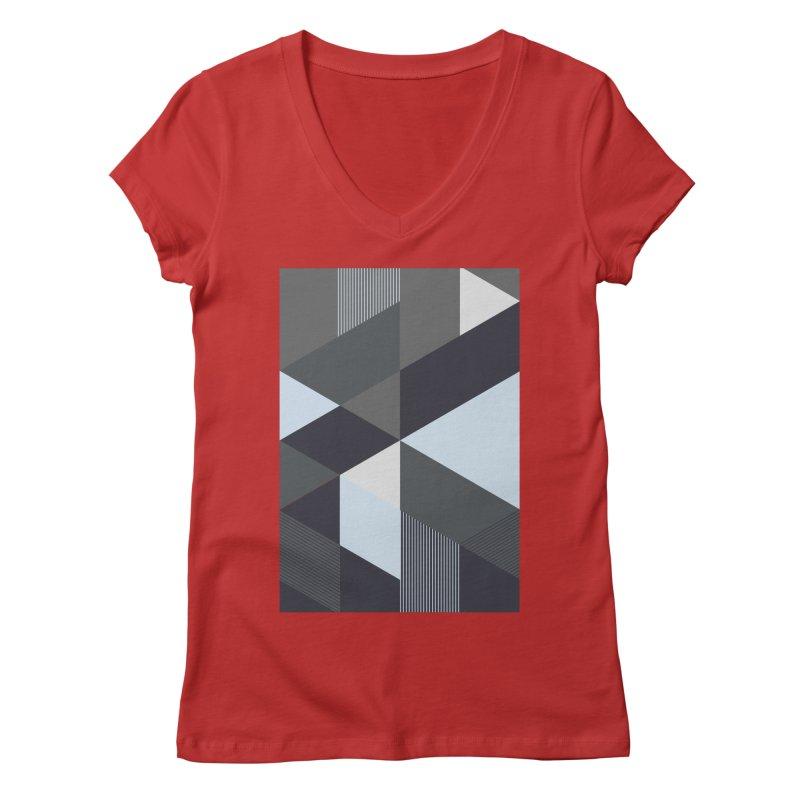 Block Colors Women's Regular V-Neck by zeroing 's Artist Shop