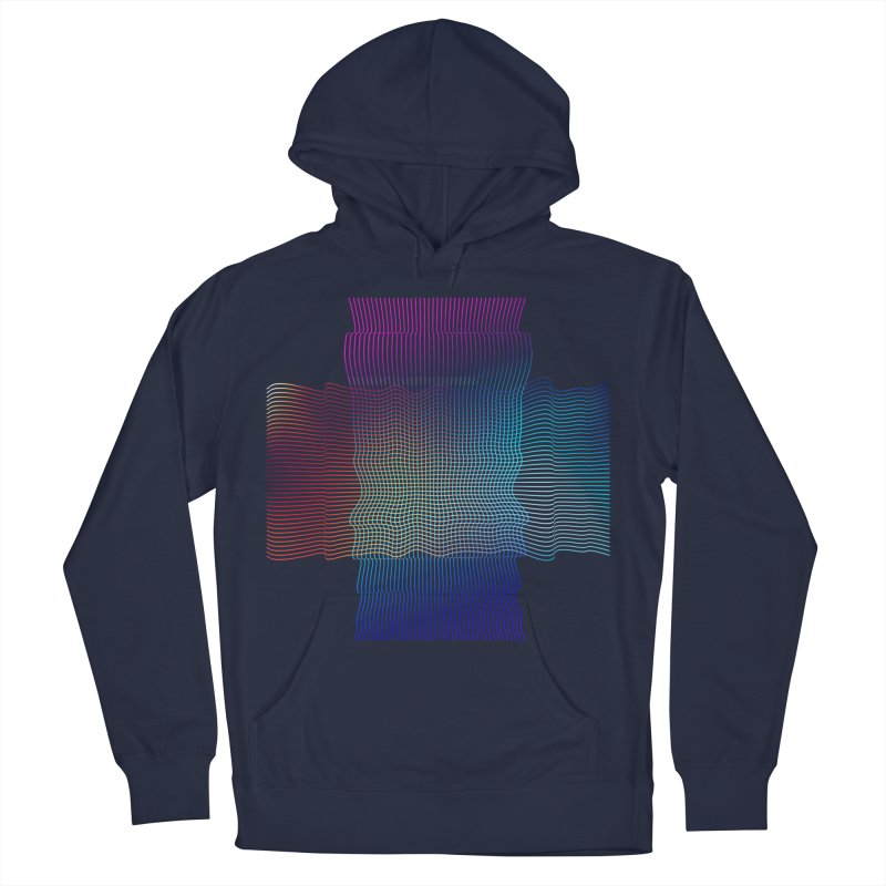 Sonic Neon Men's French Terry Pullover Hoody by zeroing 's Artist Shop