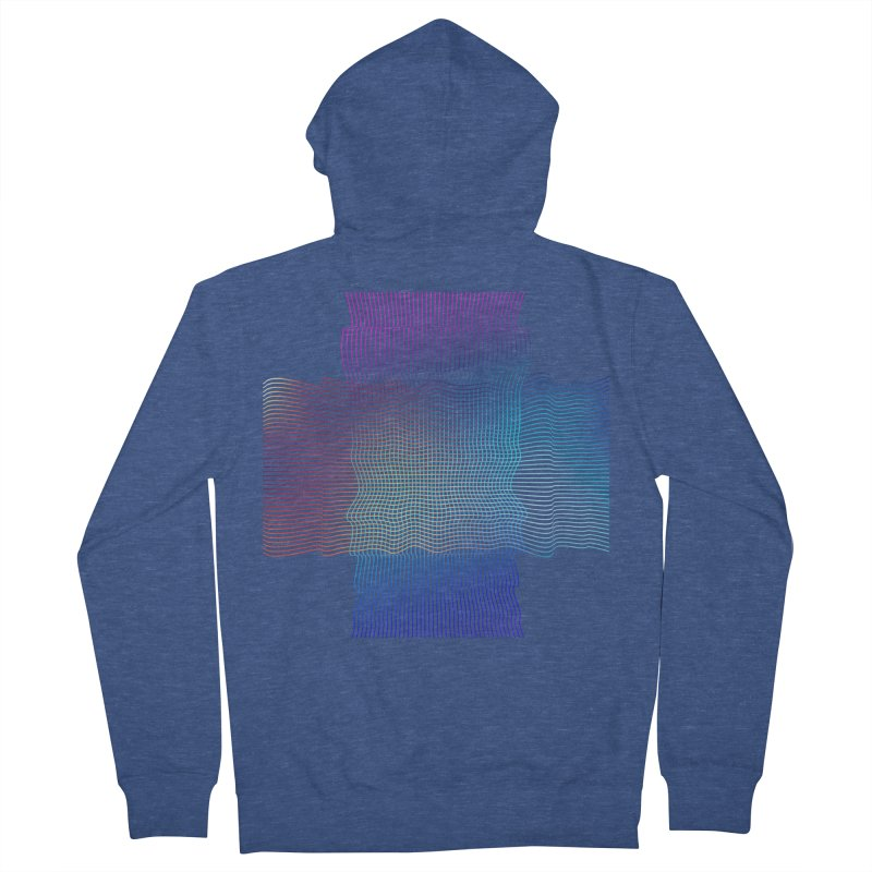 Sonic Neon Men's French Terry Zip-Up Hoody by zeroing 's Artist Shop