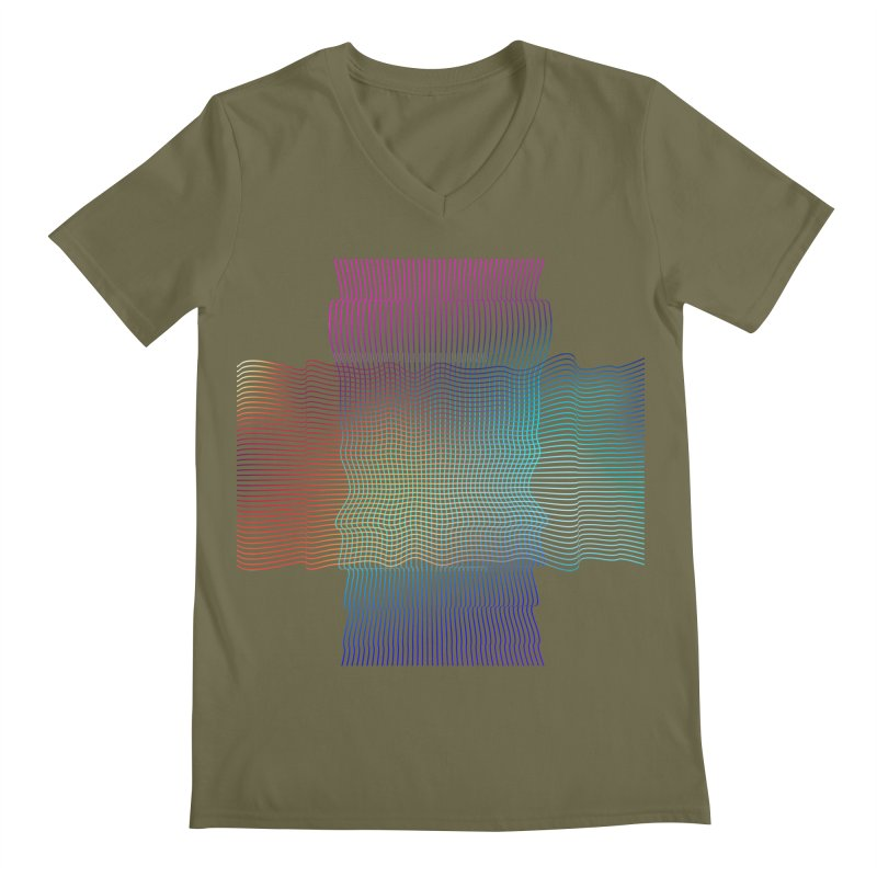 Sonic Neon Men's Regular V-Neck by zeroing 's Artist Shop