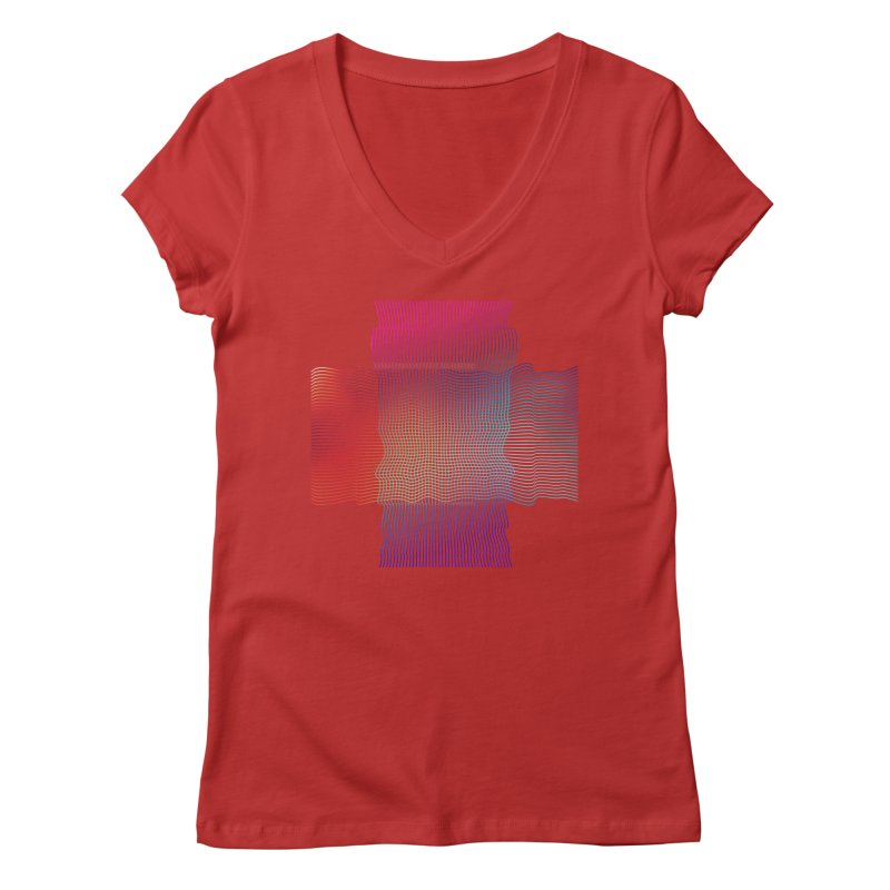 Sonic Neon Women's Regular V-Neck by zeroing 's Artist Shop