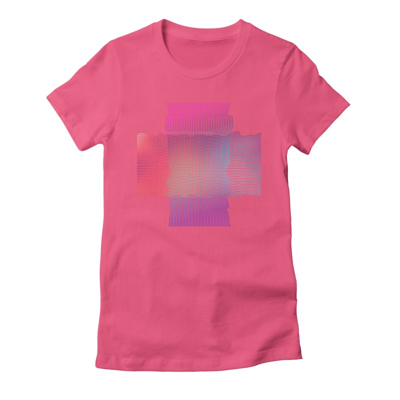 Sonic Neon Women's Fitted T-Shirt by zeroing 's Artist Shop