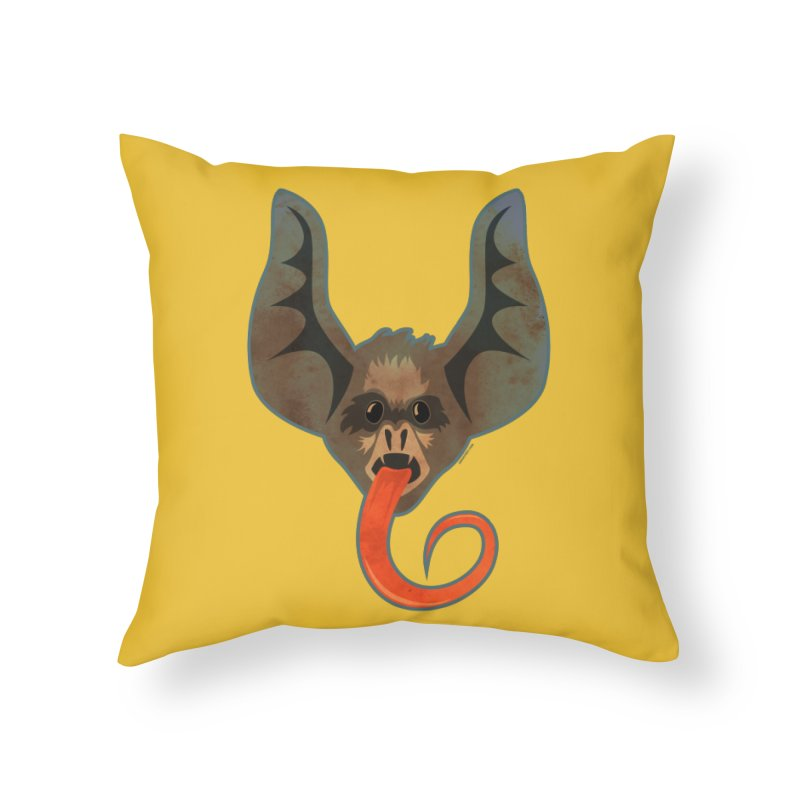 Bat Home Throw Pillow by Zerostreet's Artist Shop