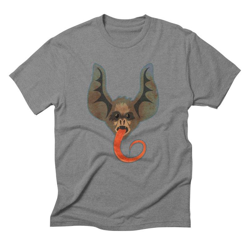 Bat Tongue Men's Triblend T-Shirt by Zerostreet's Artist Shop