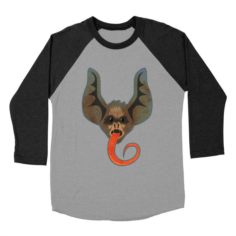 Bat Tongue Men's Baseball Triblend T-Shirt by Zerostreet's Artist Shop