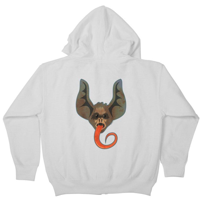 Bat Tongue Kids Zip-Up Hoody by Zerostreet's Artist Shop