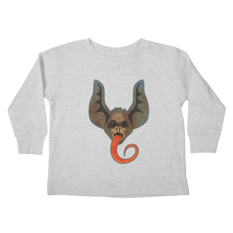 Bat Tongue Kids Toddler Longsleeve T-Shirt by Zerostreet's Artist Shop