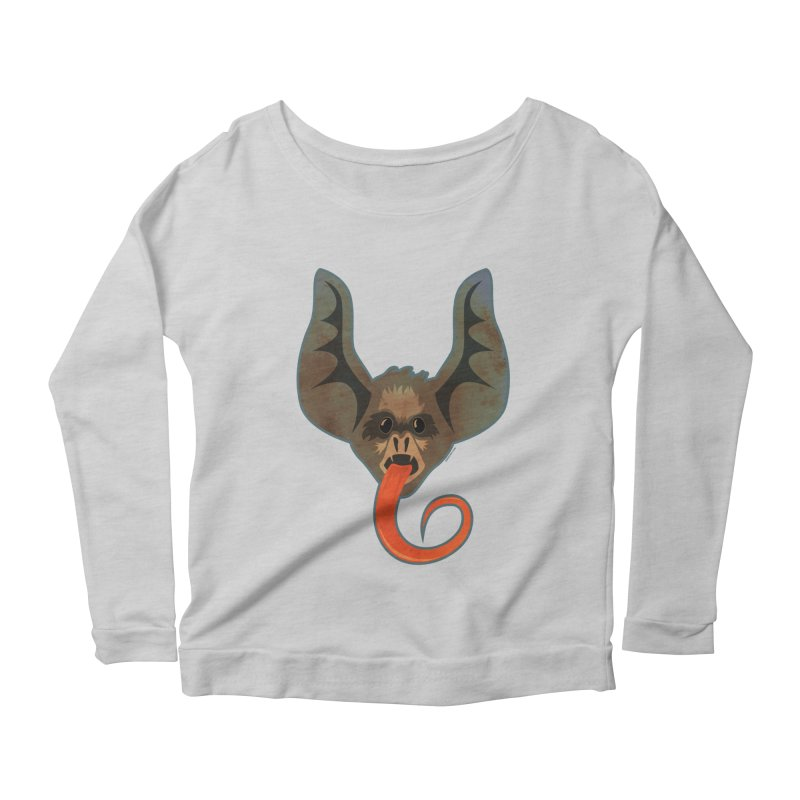 Bat Tongue Women's Longsleeve Scoopneck  by Zerostreet's Artist Shop