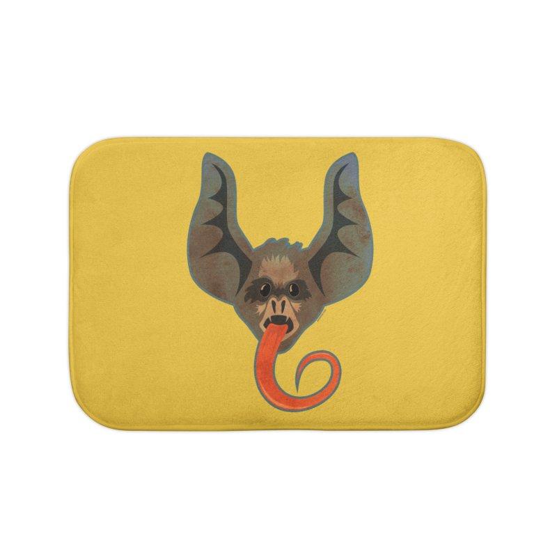 Bat Tongue Home Bath Mat by Zerostreet's Artist Shop