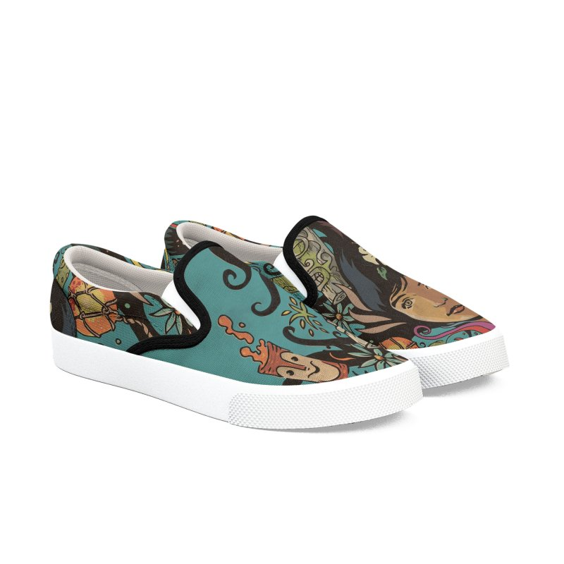 Wahine #4 Women's Slip-On Shoes by Zerostreet's Artist Shop