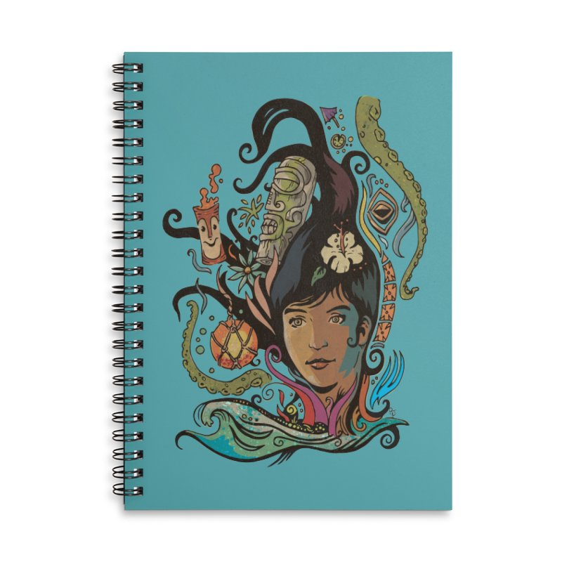 Wahine #4 Accessories Lined Spiral Notebook by Zerostreet's Artist Shop