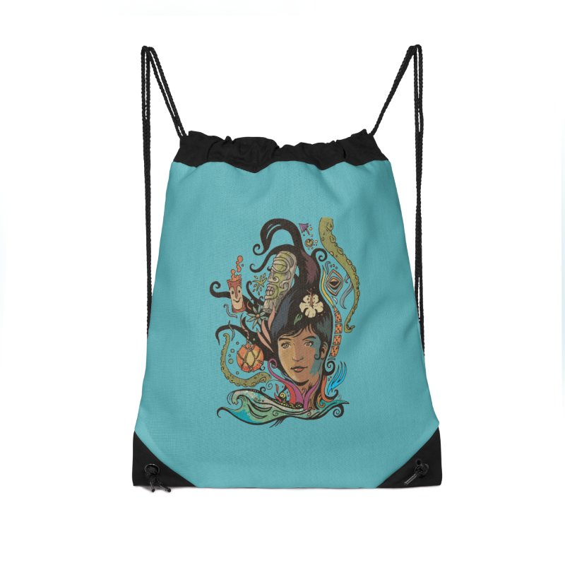 Wahine #4 Accessories Drawstring Bag Bag by Zerostreet's Artist Shop