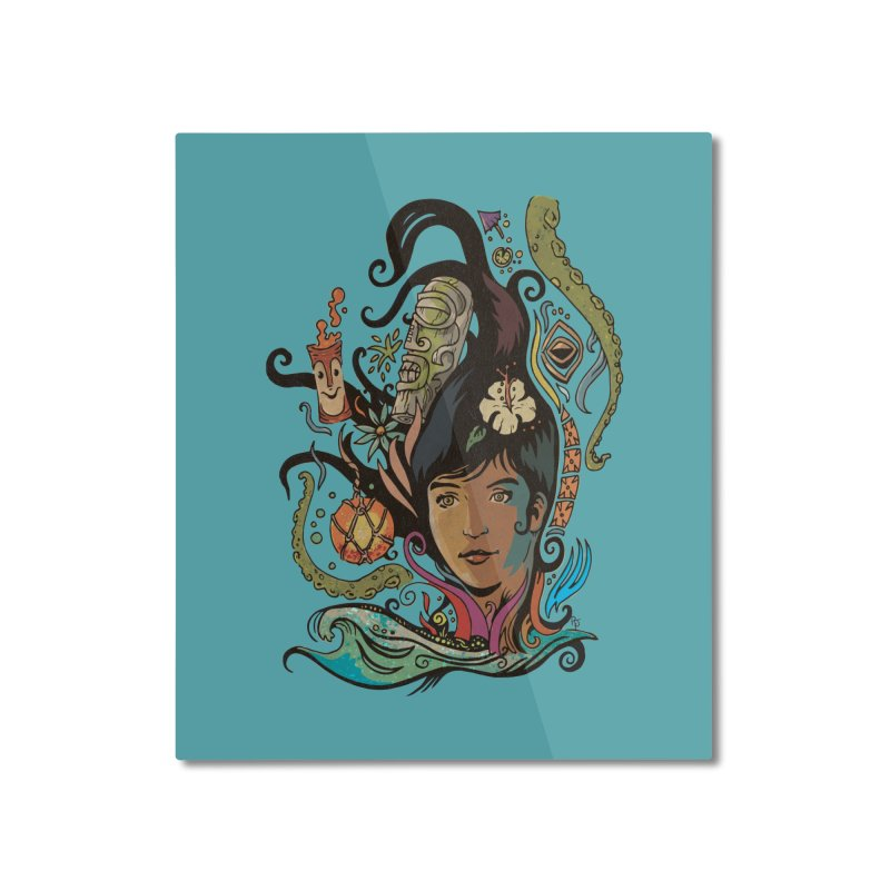 Wahine #4 Home Mounted Aluminum Print by Zero Street's Artist Shop