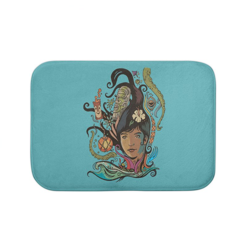 Wahine #4 Home Bath Mat by Zerostreet's Artist Shop