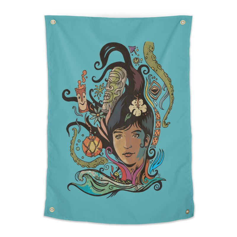 Wahine #4 Home Tapestry by Zerostreet's Artist Shop