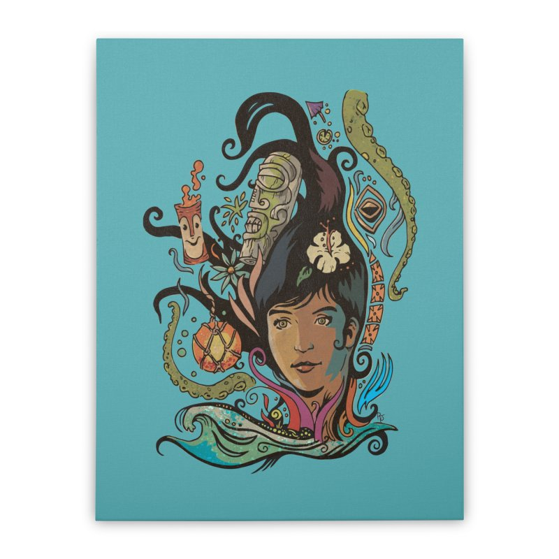 Wahine #4 Home Stretched Canvas by Zerostreet's Artist Shop