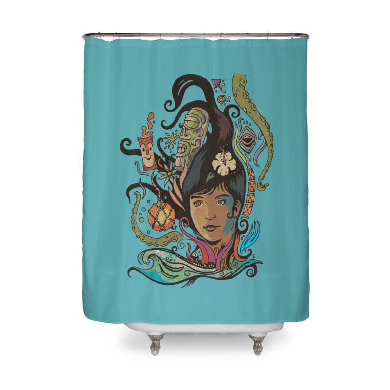 Wahine #4 Home Shower Curtain by Zero Street's Artist Shop