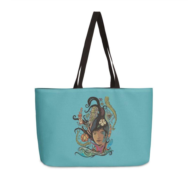 Wahine #4 Accessories Weekender Bag Bag by Zerostreet's Artist Shop