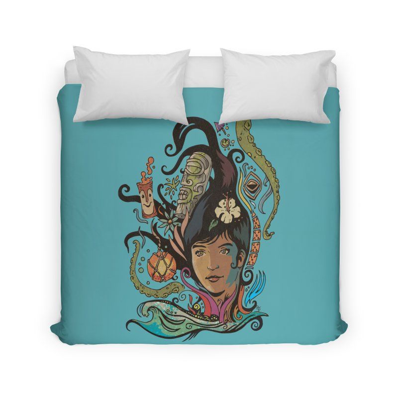 Wahine #4 Home Duvet by Zero Street's Artist Shop