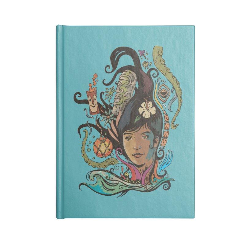 Wahine #4 Accessories Blank Journal Notebook by Zero Street's Artist Shop