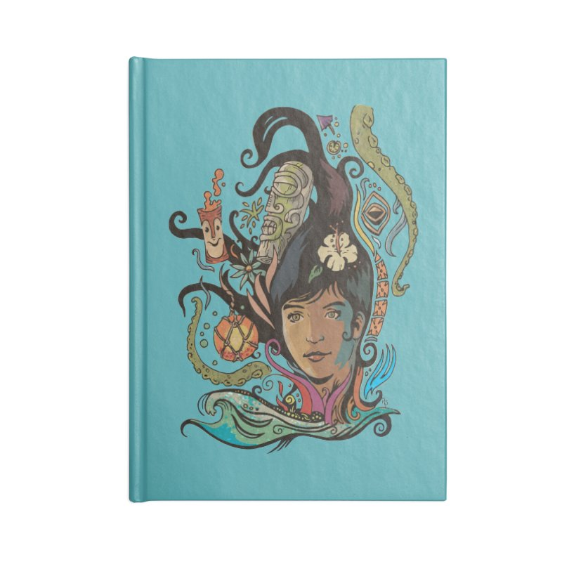Wahine #4 Accessories Lined Journal Notebook by Zero Street's Artist Shop