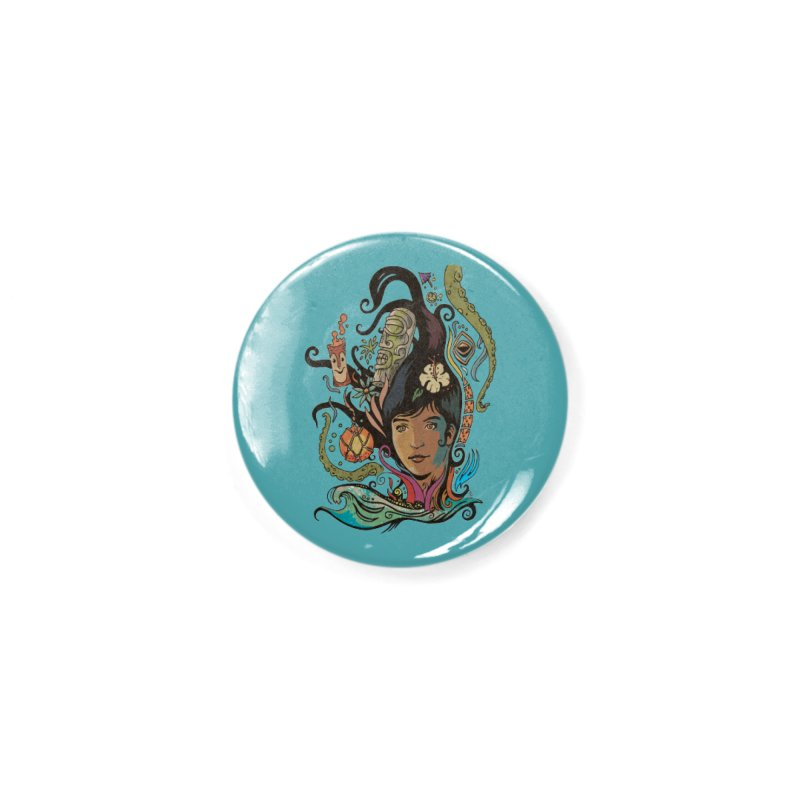 Wahine #4 Accessories Button by Zero Street's Artist Shop