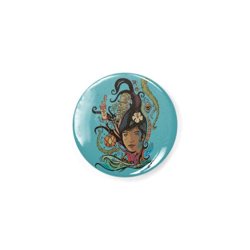 Wahine #4 Accessories Button by Zerostreet's Artist Shop