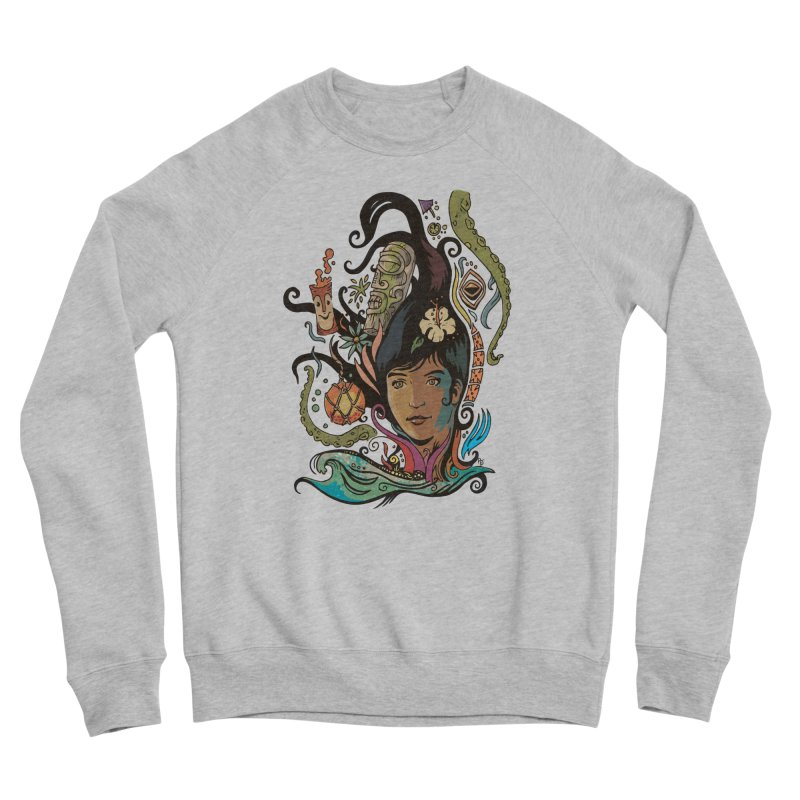 Wahine #4 Women's Sponge Fleece Sweatshirt by Zerostreet's Artist Shop