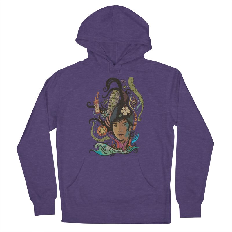 Wahine #4 Men's French Terry Pullover Hoody by Zerostreet's Artist Shop