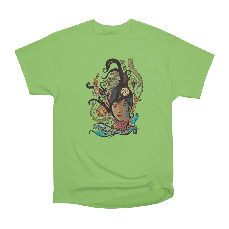 Wahine #4 Women's Heavyweight Unisex T-Shirt by Zero Street's Artist Shop
