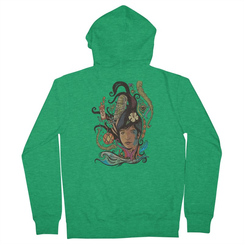 Wahine #4 Women's French Terry Zip-Up Hoody by Zero Street's Artist Shop