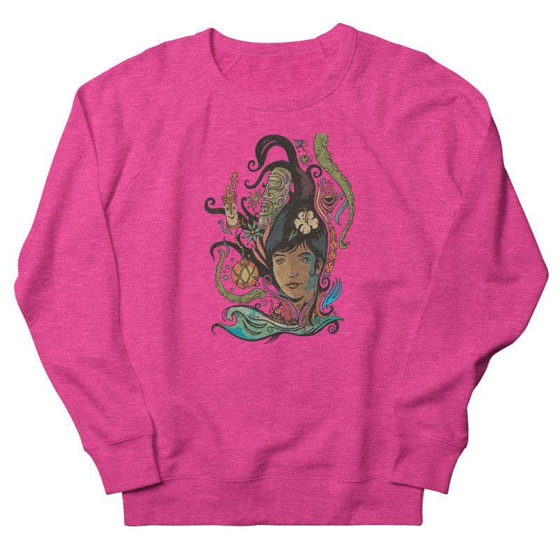 Wahine #4 Women's French Terry Sweatshirt by Zero Street's Artist Shop